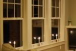 Hardwired window sill installed Window Candles.